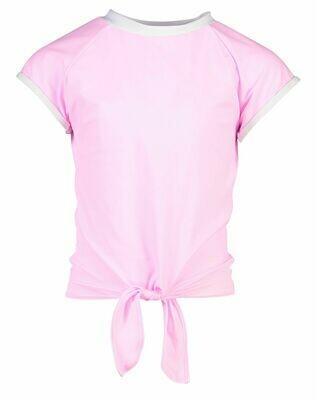 Snapper Rock Pink Knot Front Rash Top