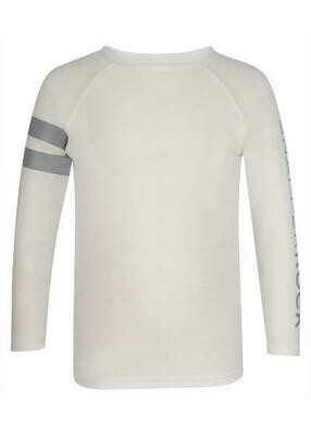 Snapper Rock White Arm Band L/S Rash