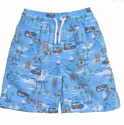 Flap Happy Kona Bay Swim Boardies