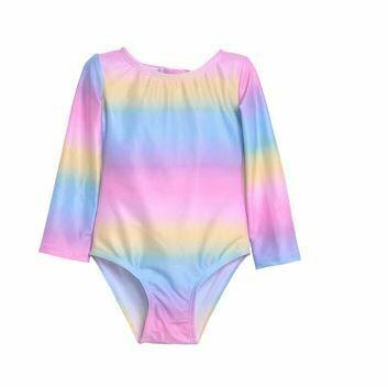 Flap Happy Rainbow L/S Rash Guard Swimsuit