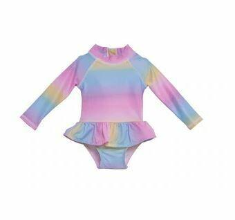Flap Happy Rainbow Infant Rash Guard Swimsuit