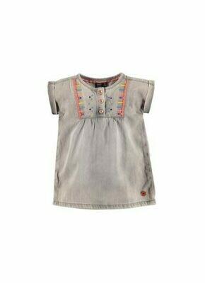 Babyface Girls Dress LT GREY DENIM 0108726