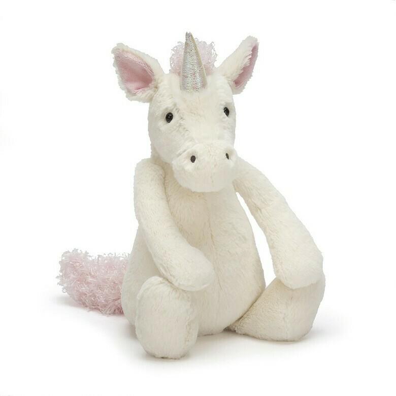 "JellyCat Bashful Unicorn Medium 12"""