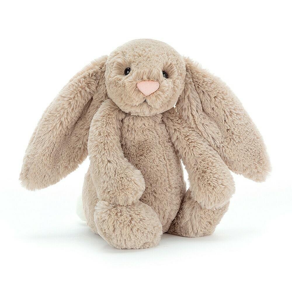 "JellyCat Bashful Beige Bunny Medium 12"""