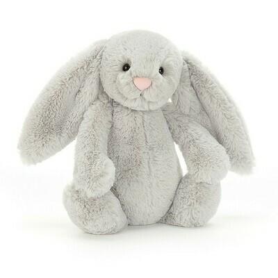 "JellyCat Bashful Grey Bunny Medium 12"""