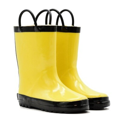 Yellow/Black Rain Boots Mucky Wear