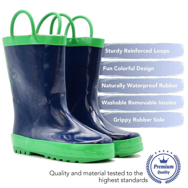 Navy/Green Rain Boot Mucky Wear