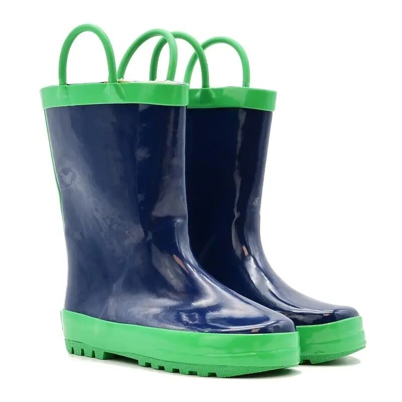 Navy/Green Rain Boots Mucky Wear