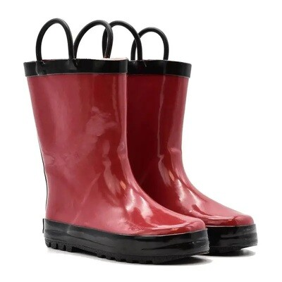 Red/Black Rain Boots Mucky Wear