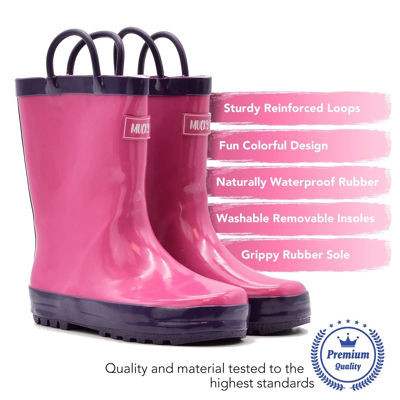 Pink/Purple Rain Boot Mucky Wear
