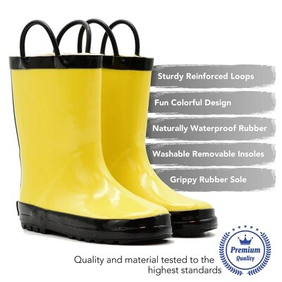 Yellow/Black Rain Boot Mucky Wear
