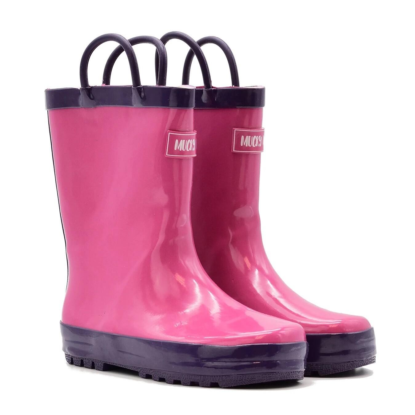 Pink/Purple Rain Boots Mucky Wear