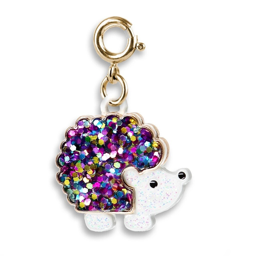 CHARM It Gold Glitter Hedgehog Charm CICC1372