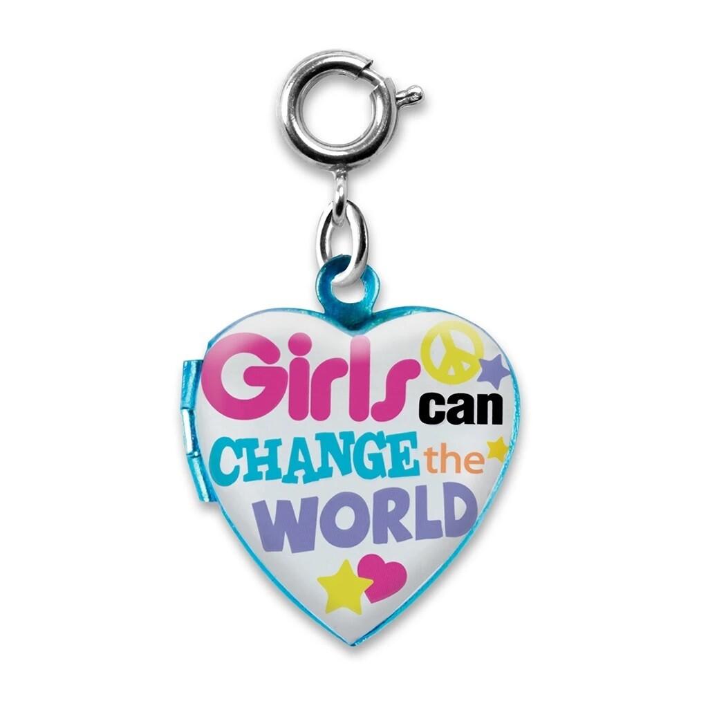 CHARM It Girls Can Change World Charm CICC988