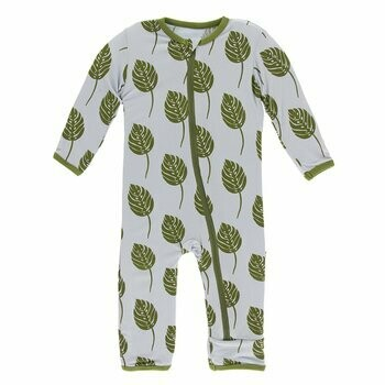 Kickee Pants Dew Philodendron Coverall
