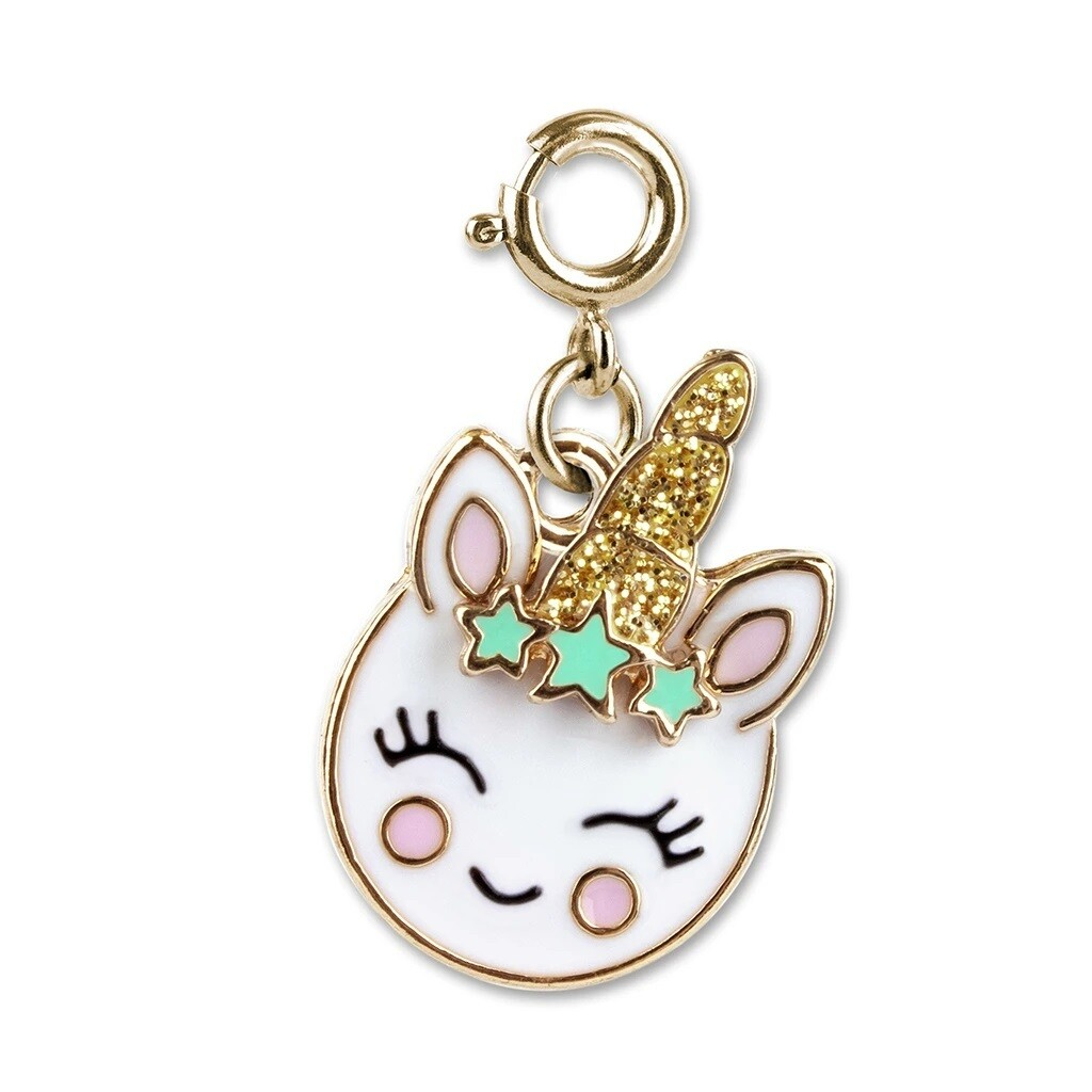 Charm It Unicorn Smiley Charm CICC1333