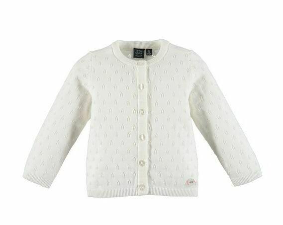 Babyface Girls White Foam Cardigan 0108340