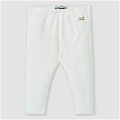Mayoral Baby Gir;s Basic Long Leggings White 703