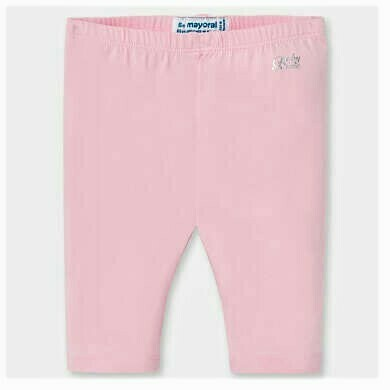 Mayoral Baby Girls Basic Short Leggings Pink 706