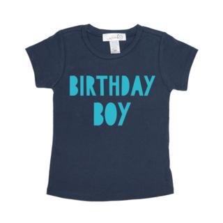 Sweet Wink Birthday Boy S/S Navy Shirt