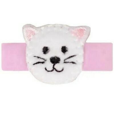 Mila Cat Mini Baby Hair Clip Pink