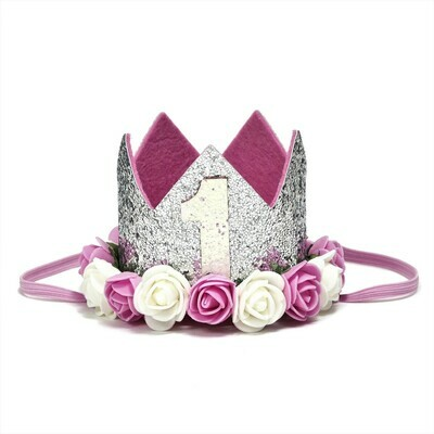 Sweet Wink Silver #1 Flower Crown (Baby