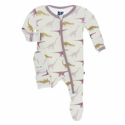 Kickee Pants Natural Sauropods Footie