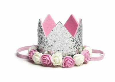 Sweet Wink Silver Flower Crown