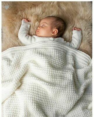 BareFoot Dreams Waffle Baby Blanket