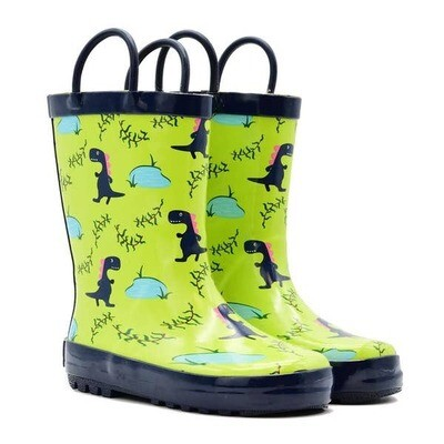 Blue Dino Rain Boots Mucky Wear