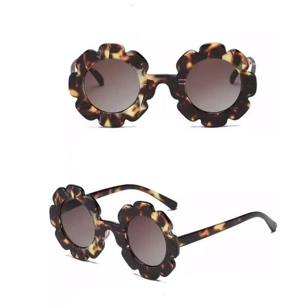 Tortoise Floral Frame Sunglasses 4Y +
