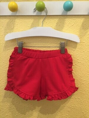 Haven Girl Ruffle Red Short