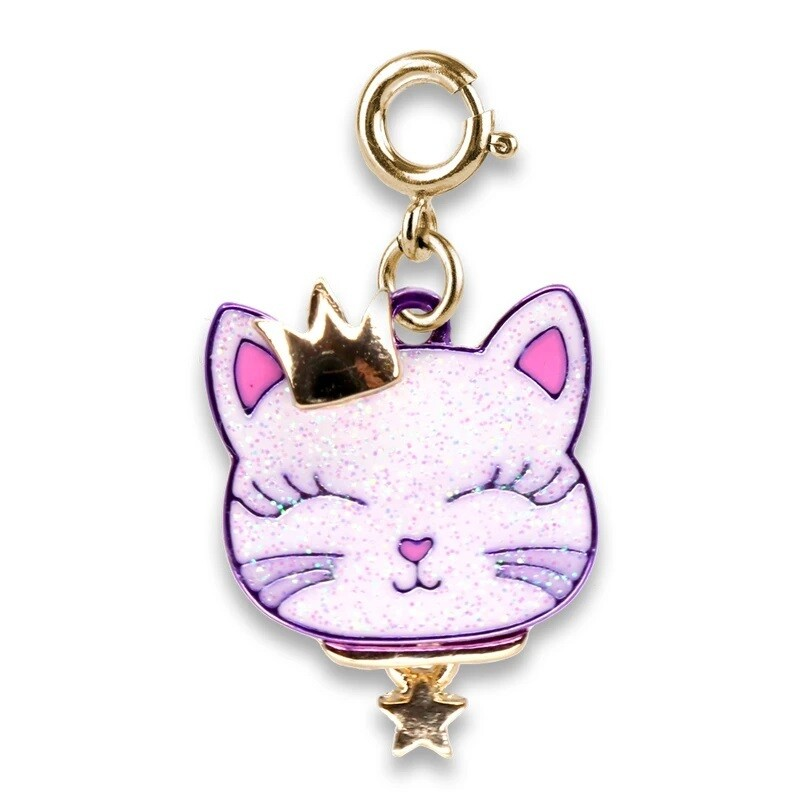 Charm It Gold Princess Kitty Charm CICC1399