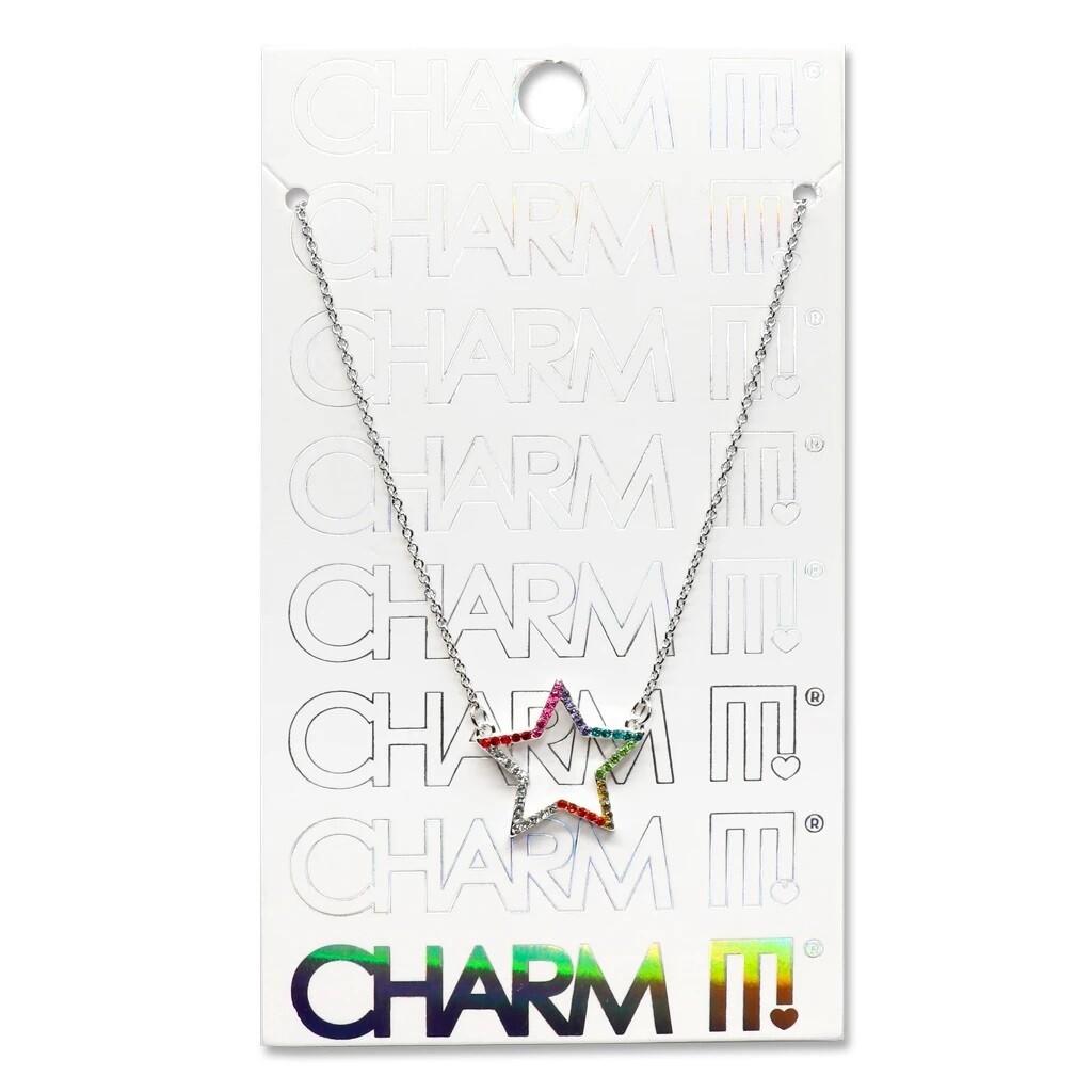 Charm It Rhinestone Star Necklace CINC116
