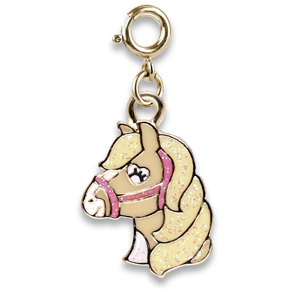 Charm It Gold Glitter Horse Charm CICC1366