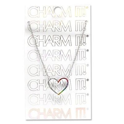 Charm It Rhinestone Heart Necklace CINC115