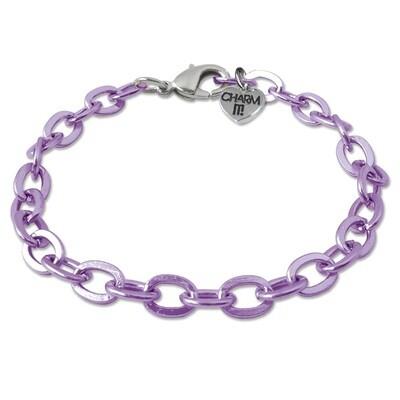 Charm It Purple Chain Bracelet CIB307