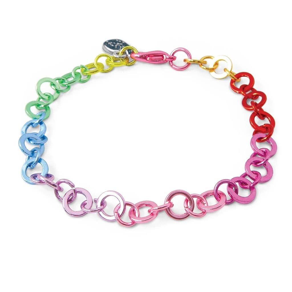 Charm It Rainbow Chain Bracelet CIB304