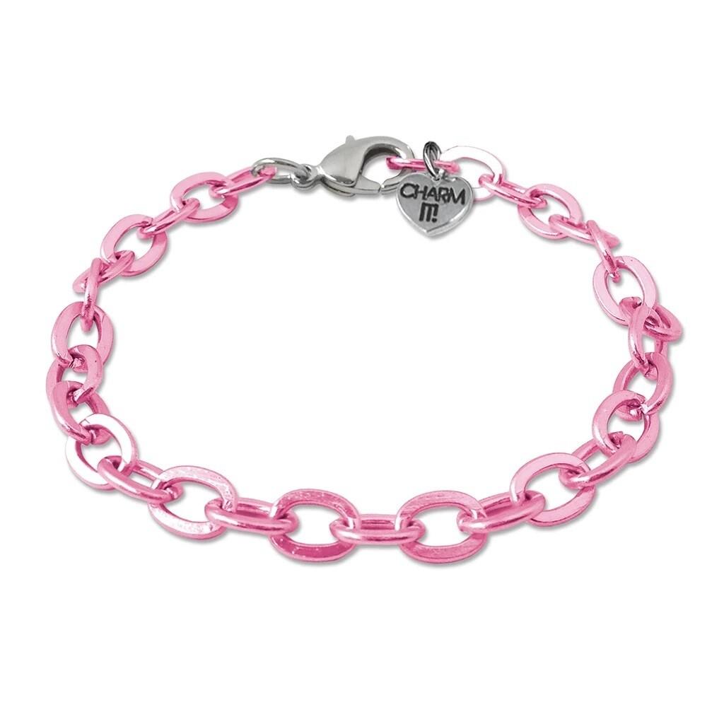 Charm It Pink Link Bracelet CIB301