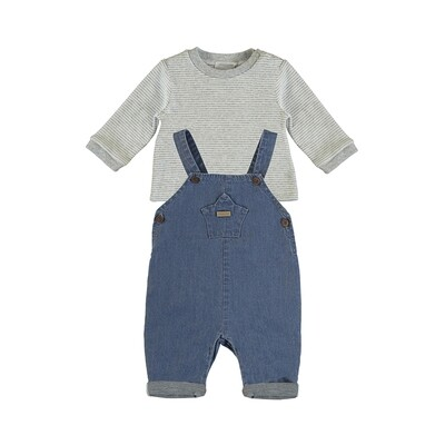 Mayoral Blue Denim Romper Set 2637