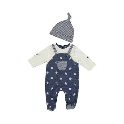 Mayoral Boys Dungaree w/Hat 2634
