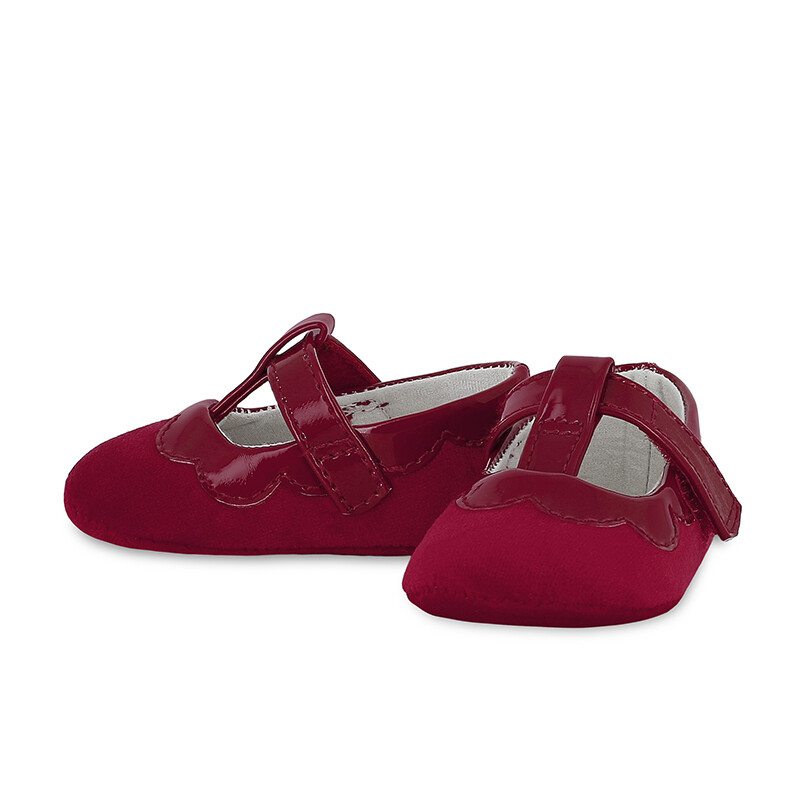 Mayoral Red Velvet Baby Shoe 9341