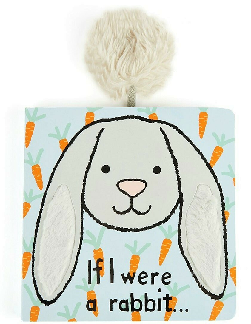 If I Were A Rabbit Book (grey) (Jellycat