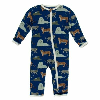 Kickee Zoology Coverall Flag Blue Big Cats