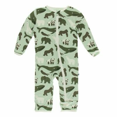 Kickee Zoology Coverall Aloe Endangered Animal