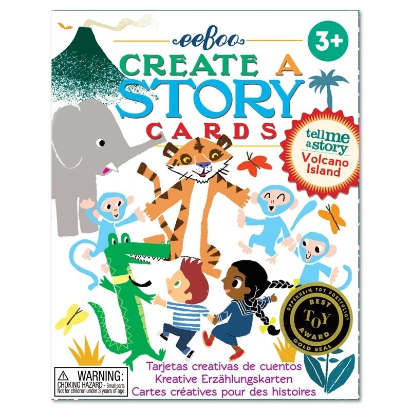 eeBoo Volcano Island Create a Story (cards