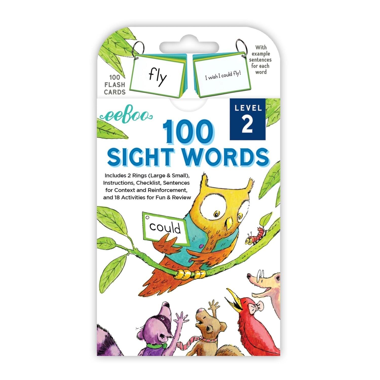 eeBoo Cards-100 Sight Words (Level 2)