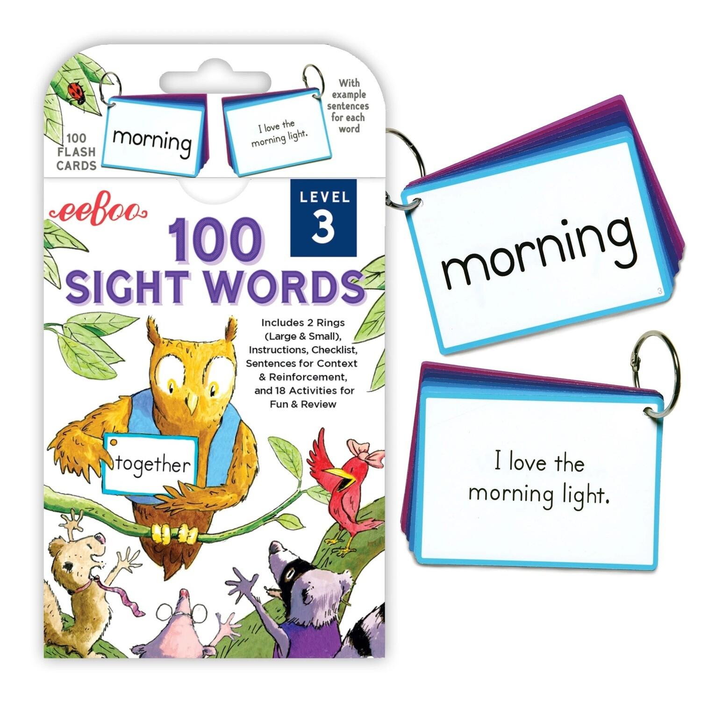 eeBoo Cards-100 Sight Words (Level 3)