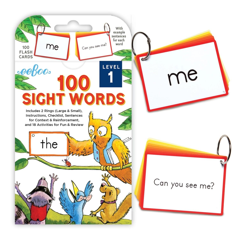 eeBoo Cards-100 Sight Words (Level 1)