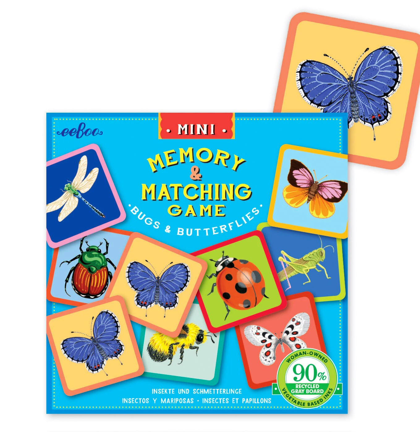 eeBoo Mini Memory & Matching Game Bugs & Butterflies
